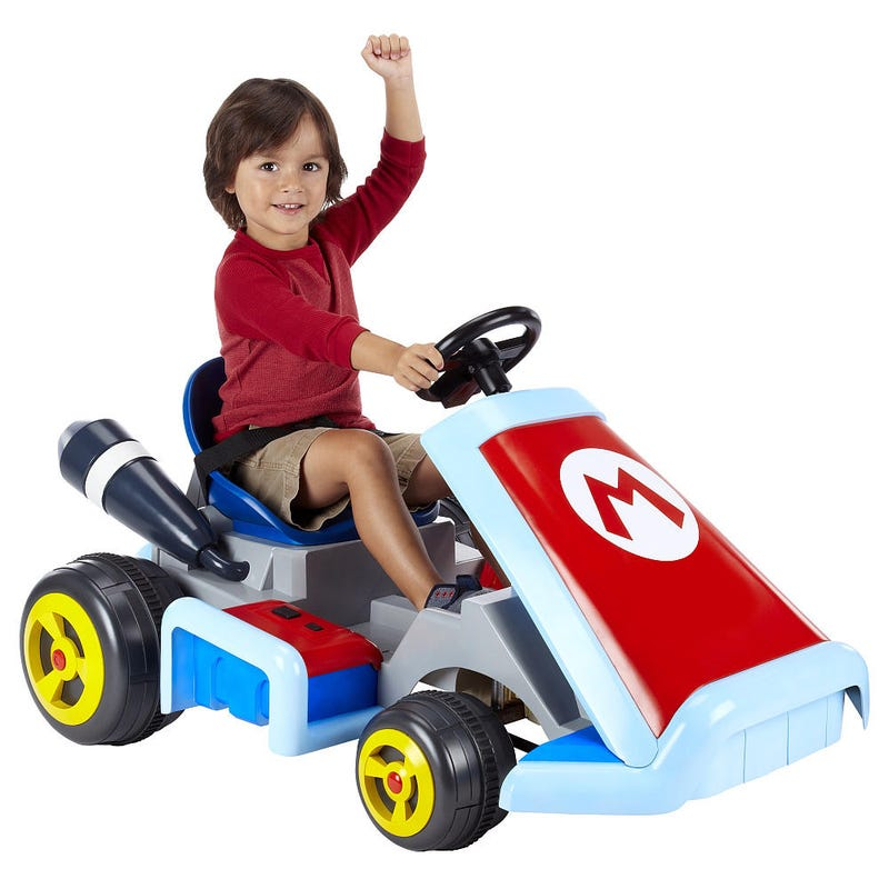 Illustration for article titled New Rideable Mario Kart Announced So Your Children Can Live Your Dreams