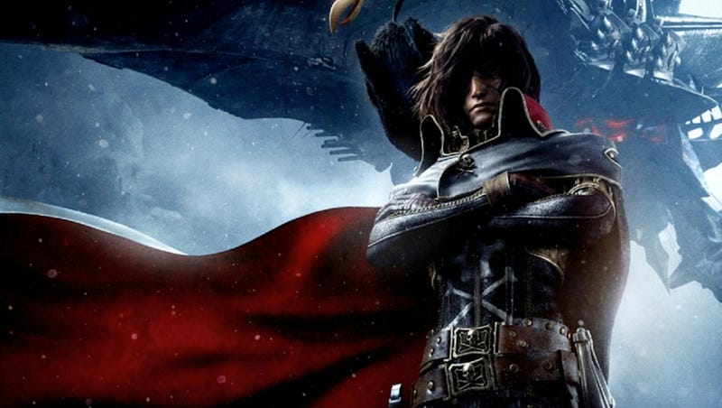 Illustration for article titled Space Pirate Captain Harlock does not want you to pirate his movie