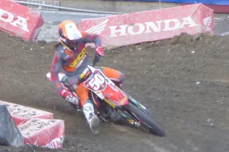 250SX rider Malcolm Stewart