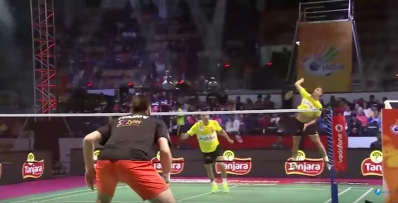 Illustration for article titled Badminton Guy Unleashes Hardest Smash In History