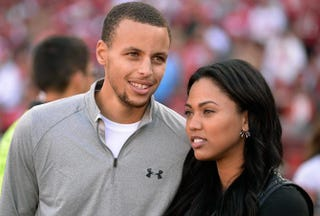 Golden State Warriors guard Stephen Curry and his wife, AyeshaThearon W. Henderson/Getty Images