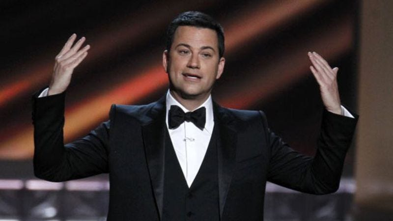 Jimmy Kimmel, who has to do everything around here, including hosting the Emmys