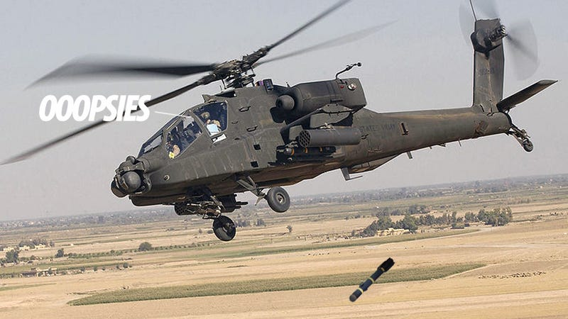 Illustration for article titled Army Helicopter Accidentally Drops Hellfire Missile Over Texas Homes