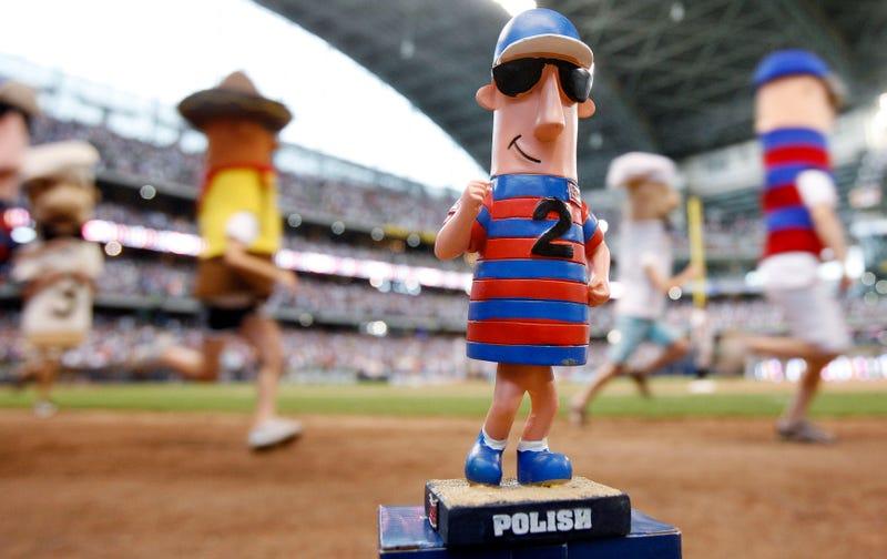 A triumphant Polish sausage. Photo credit: AP
