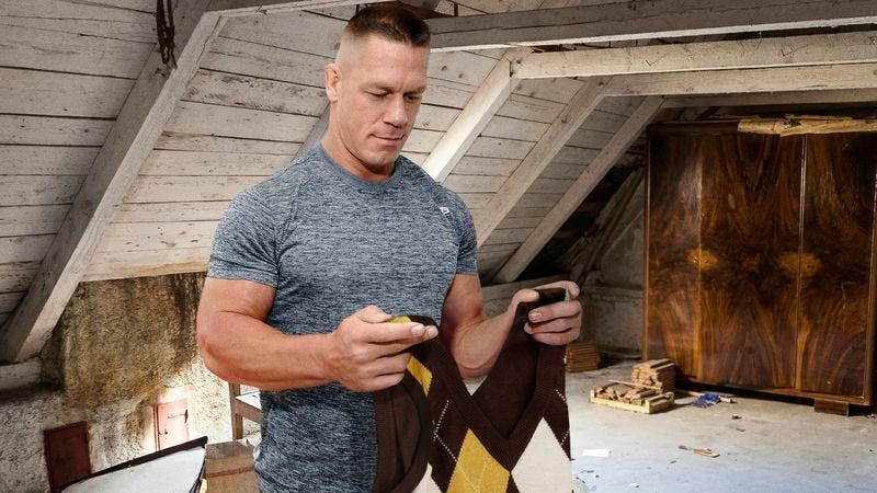 Illustration for article titled John Cena Gets Argyle Wool Singlet Out From Cedar Chest In Preparation For AutumnSlam