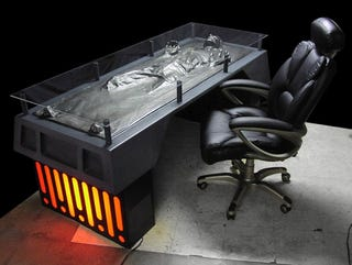 Illustration for article titled Han Solo Frozen in Carbonite Desk Reminds You That Someone Has it Worse