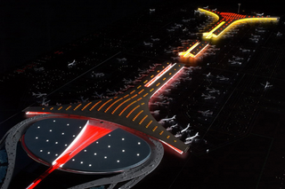 Illustration for article titled Beijing Airport's Olympic Terminal Looks Like UFO Mothership