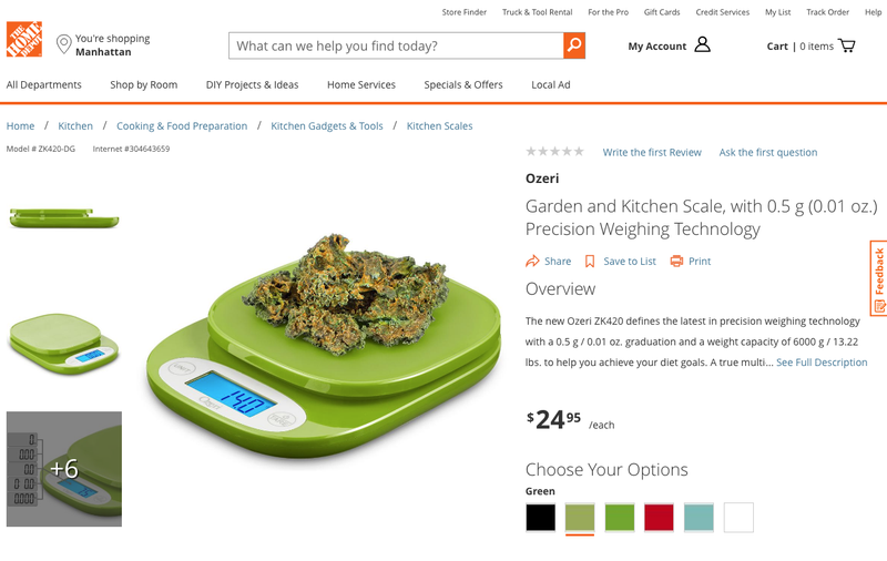 Illustration for article titled Looks Like Someone Hid a Weed Joke on Home Depot's Website