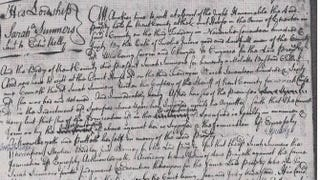 1760 court proceedings against Sarah SummersKent County, Md., court record