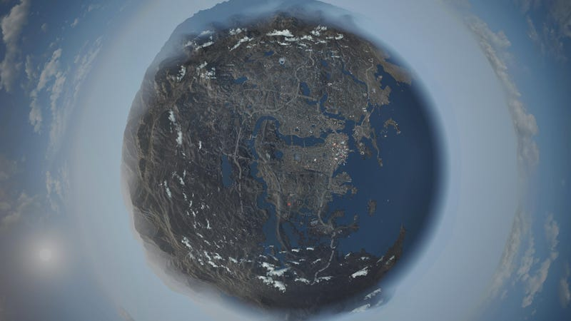 Fallout 4s world map as a globe gumiabroncs Gallery
