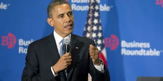 President Obama speaks during fiscal-cliff negotiations. (AFP/Getty Images)