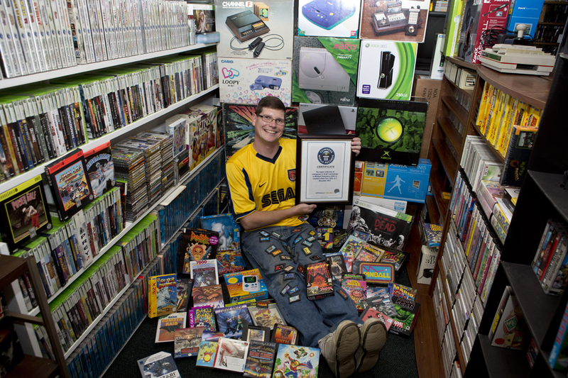 Illustration for article titled He's Got The Largest Video Game Collection In The World