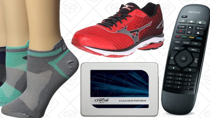 Illustration for article titled Today's Best Deals: Socks, Shoes, SSDs, and More