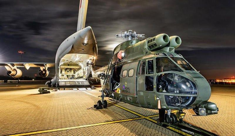 Illustration for article titled El nuevo helicóptero británico Puma está listo para la acción