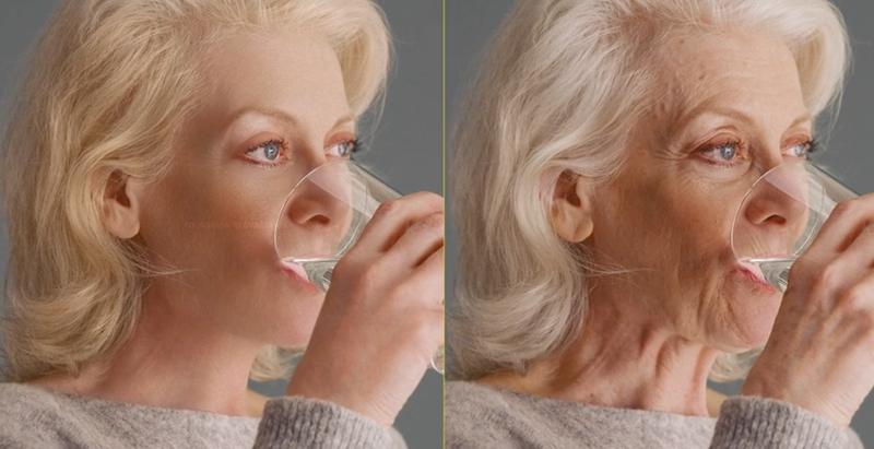 Illustration for article titled Esta técnica de retoque digital es tan alucinante que no sabrás si la mujer empezó siendo joven o mayor