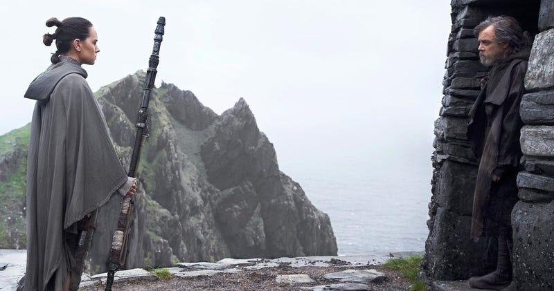 Fotograma de The Last Jedi en la isla