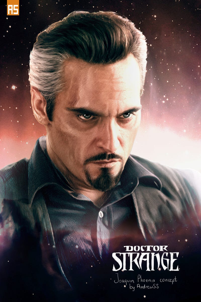 Illustration for article titled Fan Art Imagines What Joaquin Phoenix Would Look Like As Doctor Strange