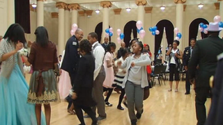 On May 22, 2015, the Chicago Police Department held its first daddy-daughter dance. NBC Chicago Screenshot