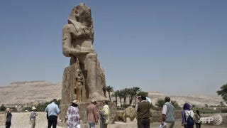 Illustration for article titled These Absolutely Huge Pharaoh Statues Were Just Unveiled In Egypt