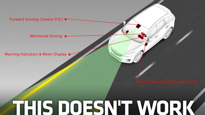 Illustration for article titled Cars With Lane Departure Warning Systems Get In More Crashes