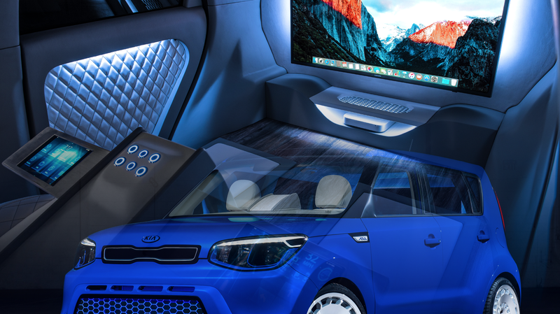 Illustration for article titled The Kia Soul First Class Concept Really Gets Autonomous Cars