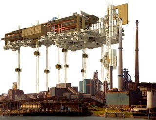 Illustration for article titled Vertical Prison Concept Hides Prisoners Up In the Sky