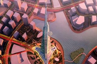 Illustration for article titled Kezdhetik építeni az 1 kilométer magas arab felhőkarcolót