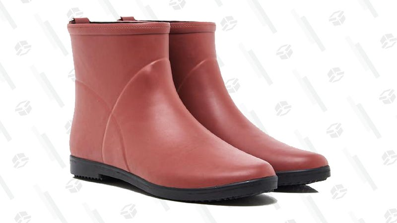 Minimalist Red Ankle Boot | $60, plus free shipping | Alice + Whittles | Promo code TAKE20