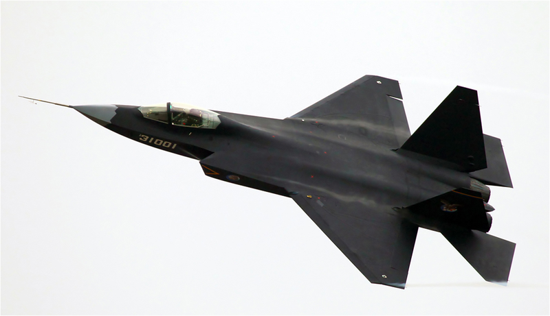 Illustration for article titled Este es el nuevo caza de combate supersónico chino, el J-31