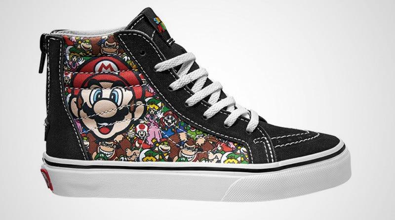 Illustration for article titled Nintendo y Vans han creado una colección de calzado que es pura nostalgia retro