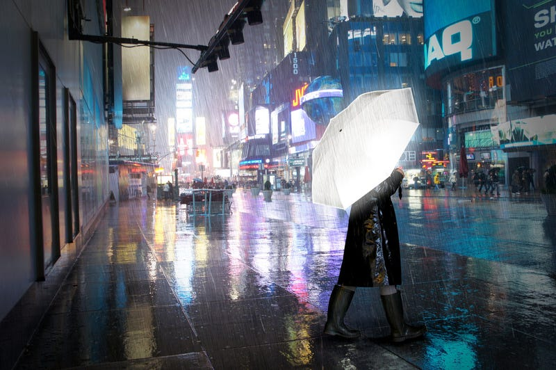 Illustration for article titled This Reflective Umbrella Surrounds You In a Super-Safe Halo of Light