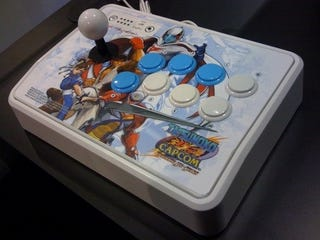 Illustration for article titled Mad Catz Mocks Up Tatsunoko Vs. Capcom Fight Sticks