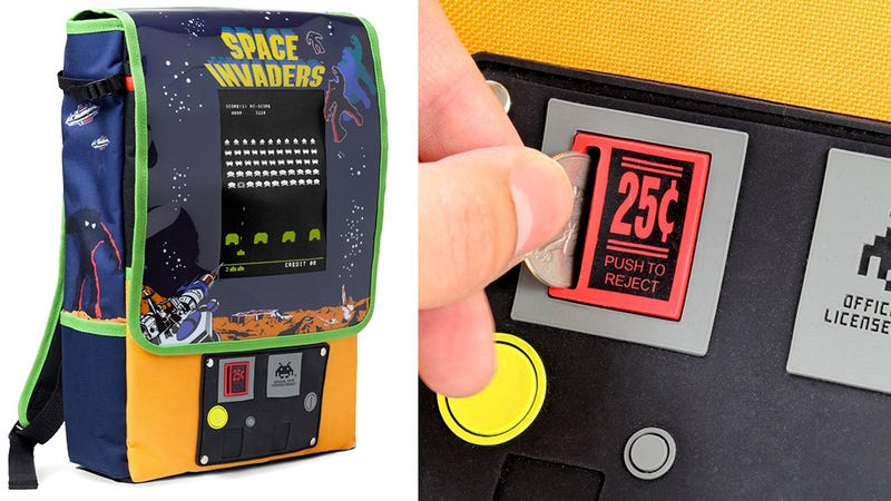 Illustration for article titled Brilliant Space Invaders Pack Straps a Miniature Arcade Cabinet to Your Back
