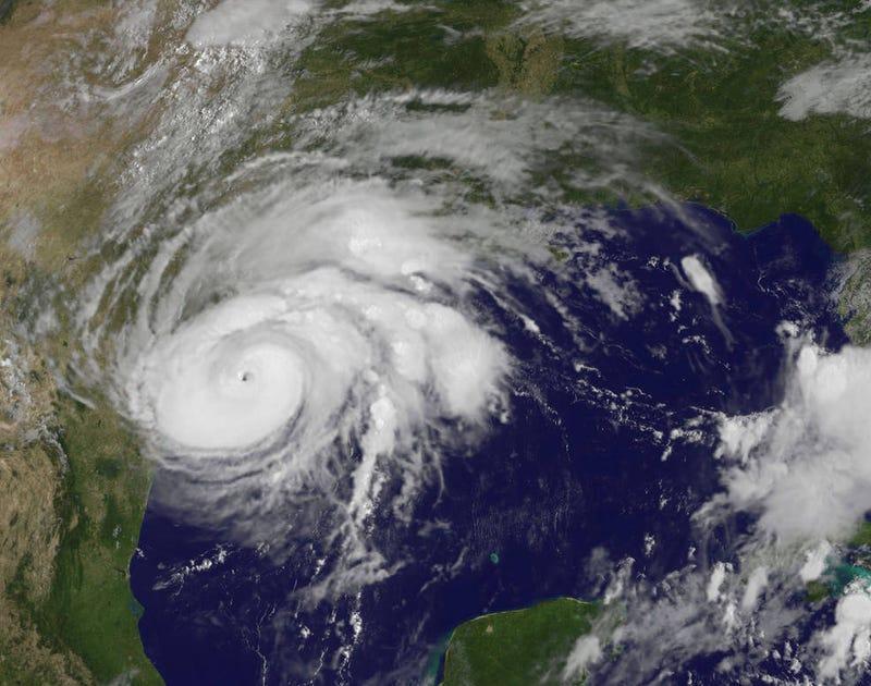 NASA: GOES image of Hurricane Harvey, 25 August 2017, 1407 UTC