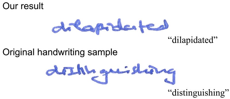 Illustration for article titled New Software Can Perfectly Forge Handwriting