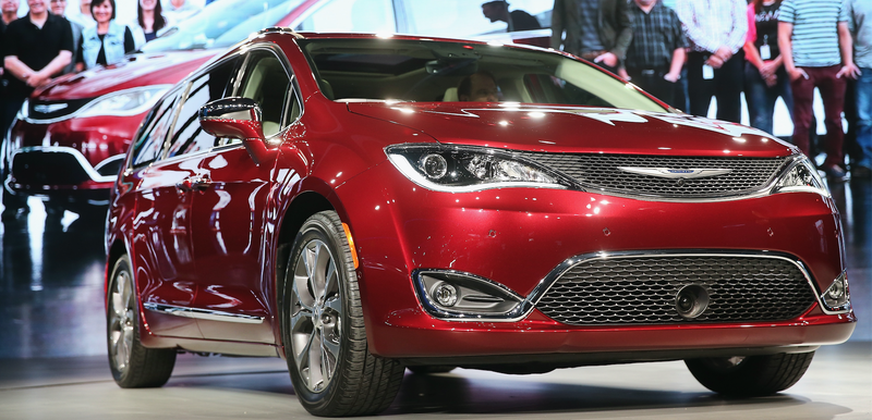 The Chrysler Pacifica Minivan Which Sources Say Will Be Basis For An Electric Car
