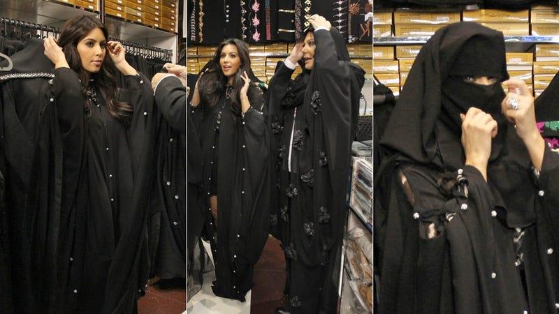 Illustration for article titled Kim Kardashian Goes Burqa Shopping In Dubai