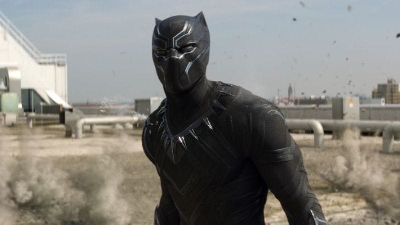 Chadwick Boseman's Black Panther in Captain America: Civil War