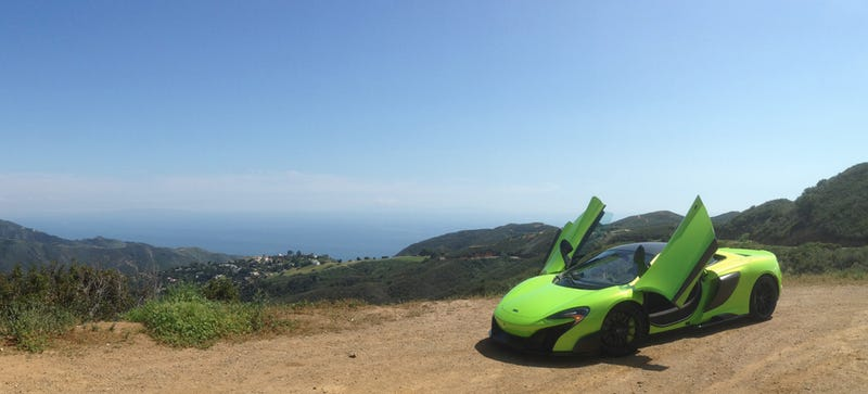 Illustration for article titled Watch Us Take A $400,000 McLaren 675LT Up The California Coast Live
