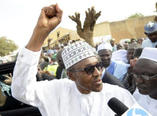 Incoming Nigerian President Mohammadu Buhari as a candidate in MarchPIUS UTOMI EKPEI/AFP/Getty Images