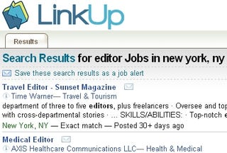 Illustration for article titled LinkUp Searches Companies' Own Postings for Job Leads