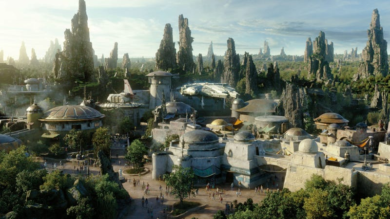 Concept art of Star Wars Galaxy's Edge.
