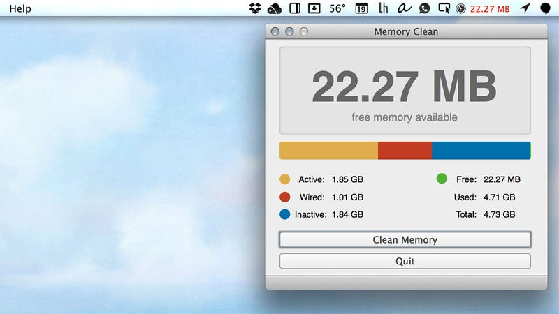 Memory Clean Frees Up Your Mac's Unused, System-Reserved RAM