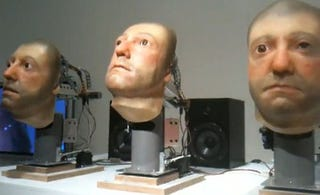 Illustration for article titled Freaky Singing Animatronic Heads Part of $75K Art Work