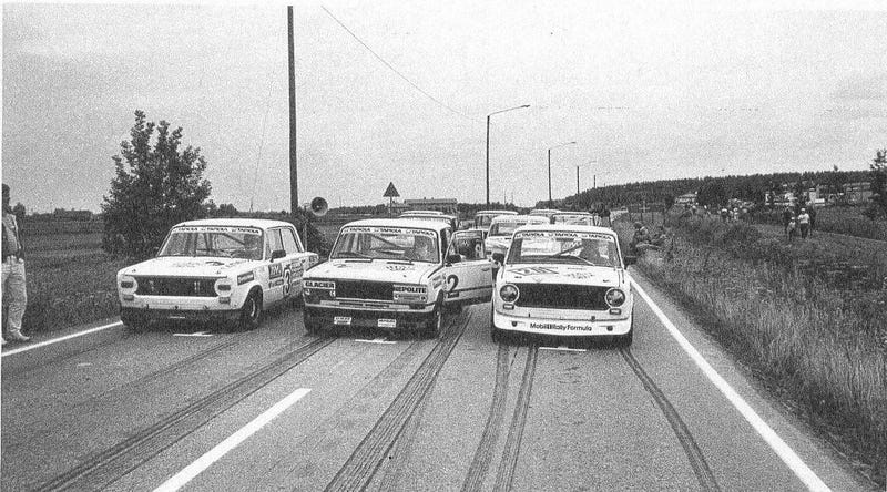 Illustration for article titled Lada-cup starting grid at 1985 Lapuan Vauhtiajot
