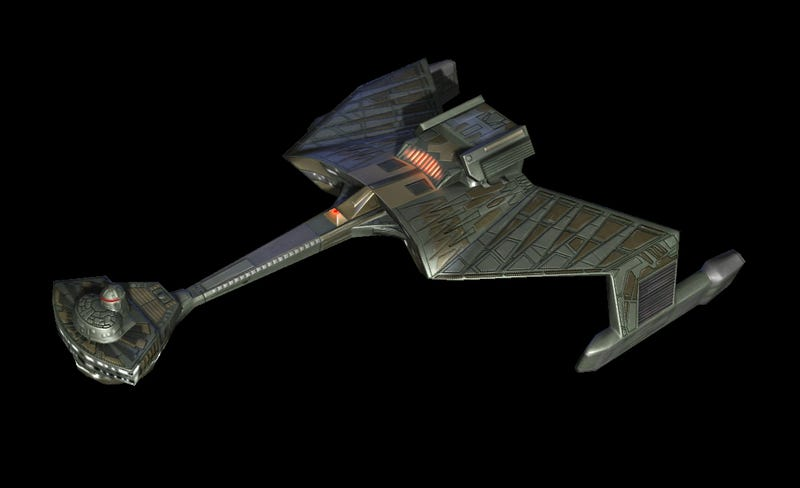 Illustration for article titled 3D model of the Klingon K't'inga-class warship will get you pumped up for Sto'Vo'Kor.