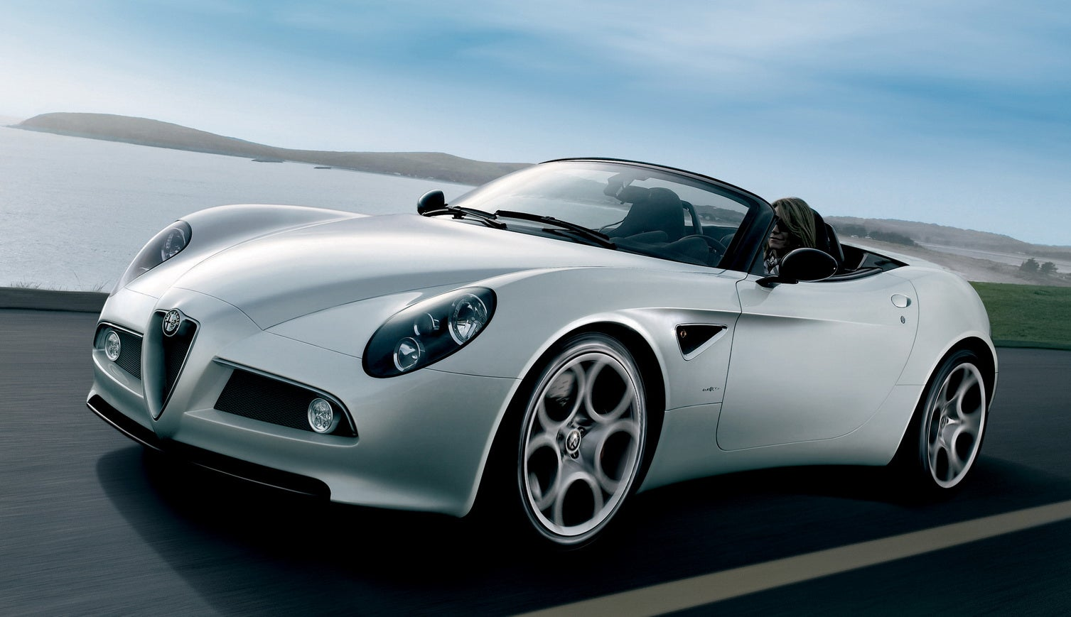 first production alfa romeo 8c spider to run at goodwood. Black Bedroom Furniture Sets. Home Design Ideas