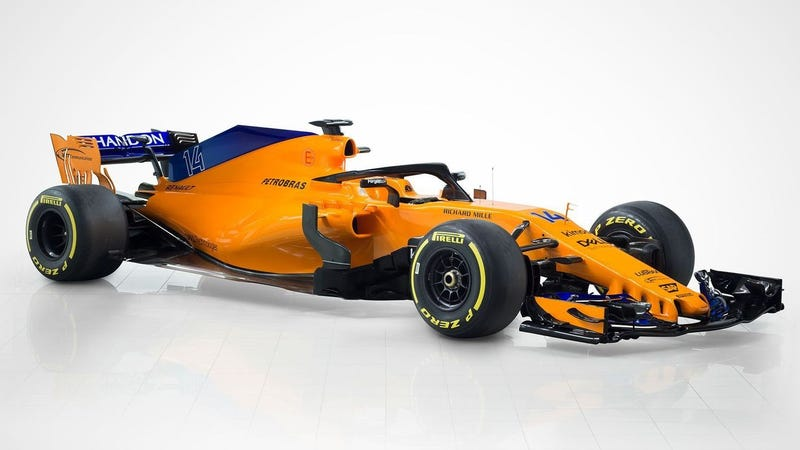 the 2018 mclaren formula one car: now with more blue and less honda