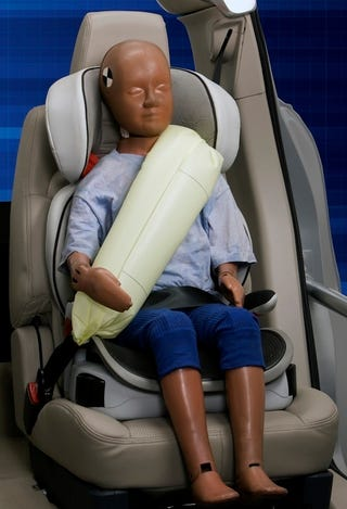 Illustration for article titled Ford Unveils Inflatable Seat Belt...You Know, For Kids!