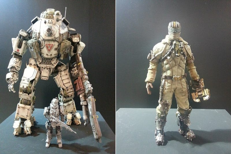 Illustration for article titled Photos Of The New Dead Space And Titanfall Figures